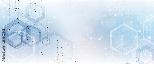 Fototapeta Abstract tech background. Futuristic technology interface obraz