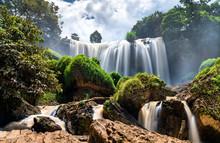 Elephant Falls At Da Lat In Vietnam