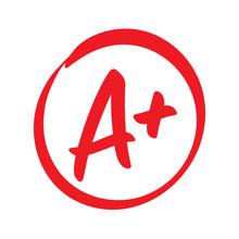 Vector A Plus Red Grade Mark
