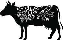 Cow Floral Eps Clip Art