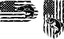 Fishers American Flag Distressed Clip Art