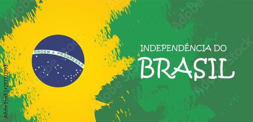 Brazil independence day celebration greeting card illustration Fotobehang