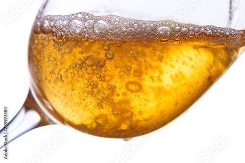Fotografie, Obraz  White wine isolated  on white background.