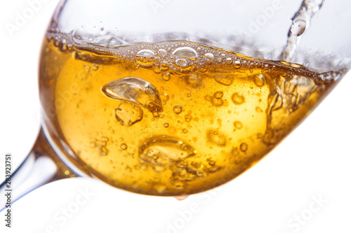 Obraz na plátně  White wine isolated  on white background.
