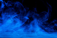 Conceptual Image Of Blue Smoke...