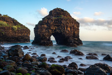 Arch Of Los Roques Beach, Tenerife Island, Spain