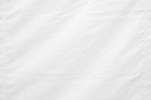 White Wrinkled Canvas Texture Background.