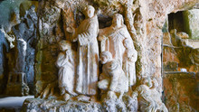 Group Of Church Statues Excavated In The Rock Of Piedigrotta Of Pizzo Calabro