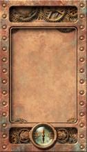 Steampunk Aged Copper Frame Il...