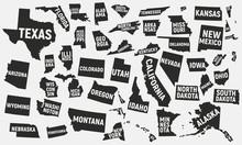 Set Of 50 United States Icons....
