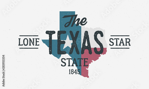 Fotografía Texas State logo, poster