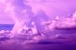 Leinwandbild Motiv purple blue sky and dramatic color background