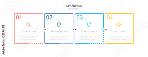 Fotomural  Infographic design template