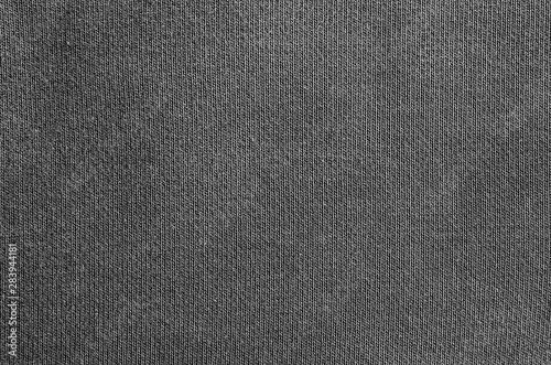 Obraz Closeup black blank cotton fabric texture background. - fototapety do salonu