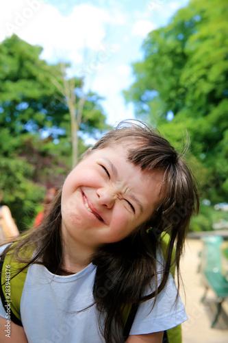 Fotografie, Obraz  Little girl have fun outside in the park