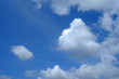 White Clouds with Beautiful Blue Sky Background.