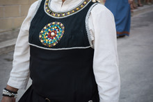 Close Up Of Dress Of Medieval ...