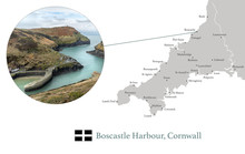 Map Of Cornwall, Featuring Pho...