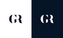 Abstract Letter GR Logo. This ...