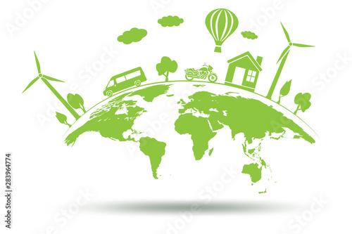 Fototapeta Concept of environmental protection - 3d rendering obraz