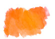 Leinwandbild Motiv orange abstract watercolor strokes.Colorful banner.Bright watercolor background for design