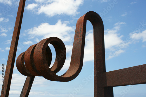 Detail of a Iron sculpture in Tenerife Spain