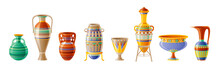 Egyptian Crockery Icon Set. Va...
