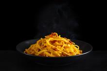Italian Food. Pasta Carbonara.