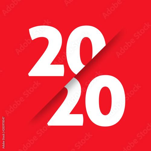 20/20 vision vector art concept Canvas Print