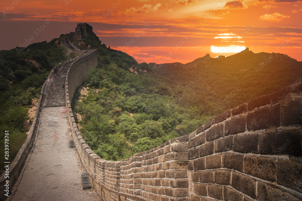 View of the great Chinese wall