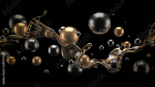 Abstract 3d background. 3d illustration, 3d rendering. - 283979301