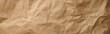 brown craft paper texture background - banner