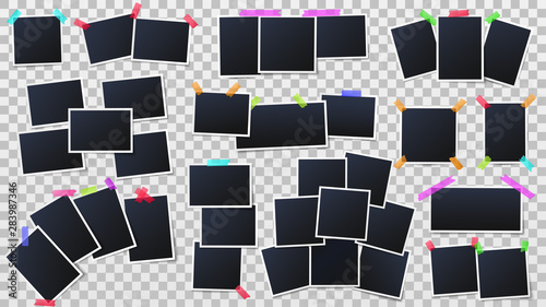 Canvas Photos on color adhesive tapes