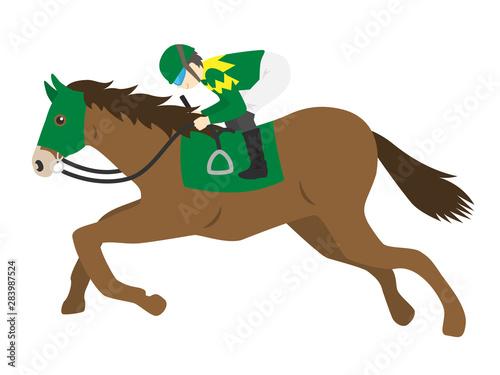 Fototapeta 競走馬のイラスト obraz