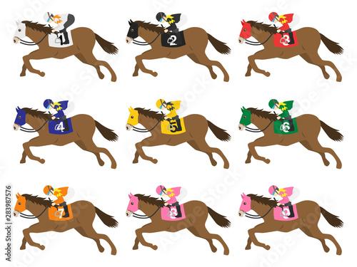 Canvastavla 競走馬のイラスト