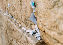 Notes On The Wailing (Western) Wall In Jerusalem Israel
