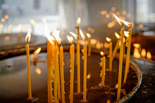 Burning Candles On The Altar In The Monastery 1