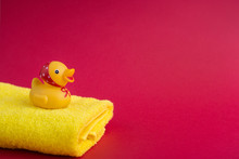 Rubber Duck Yellow Towel On Re...