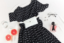 Presentation Of Clothes For Girls. Dress Which Helps You To Look Comfortable And Relaxed