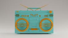 Gulf Blue And Orange Boombox 3d Illustration 3d Render