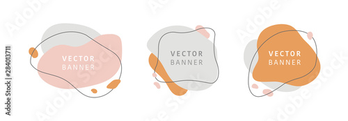 Cuadros en Lienzo  Set of abstract vector modern stories background