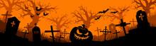 Happy Halloween Banner. Hallow...