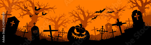 Happy Halloween banner Canvas Print