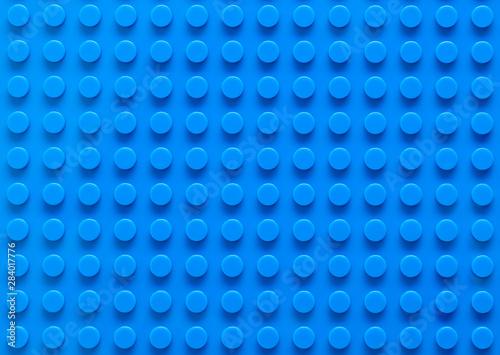 Blue Plastic Building Block Base