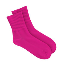 Pink Socks On An Isolated White Background