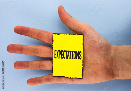 Conceptual hand writing showing Expectations Wallpaper Mural