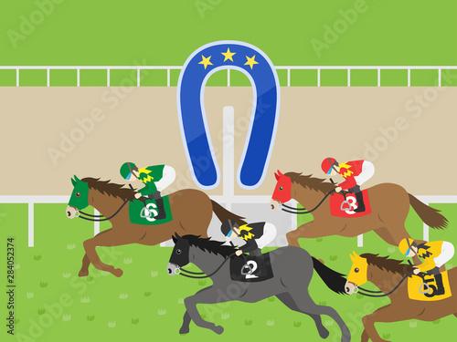 Obraz na płótnie 競馬のイラスト