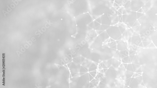 Canvastavla  Abstract plexus on gray background