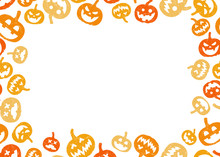 Halloween Pumpkin Frame Border...