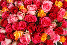 Pink And Red Rose Flowers Bouq...